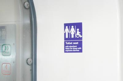 Toilet riservata agli attacchi di diarrea esplosiva