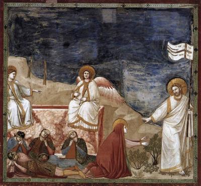"""""""NOLI ME TANGERE"""" - pannello - Giotto 1306 - Cappella degli Scrovegni, Padova"""