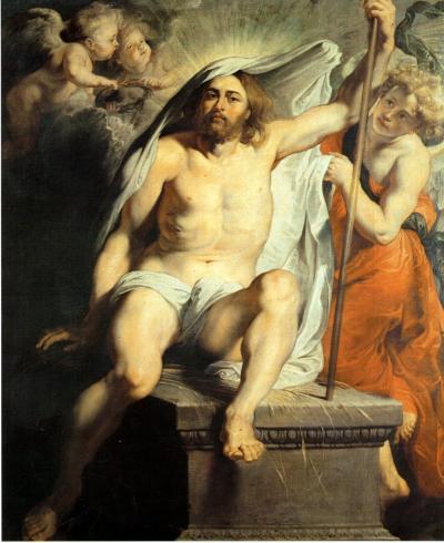 Resurrezione di Cristo - dipinto a olio su tela (183x155)cm di Pieter Paul Rubens 1616 - conservato nella Galleria Palatina di Palazzo Pitti a Firenze