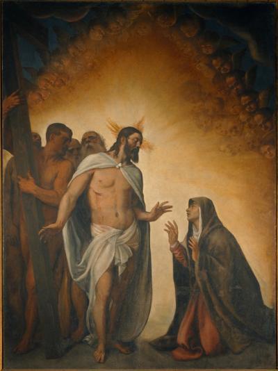 Il Risorto appare alla Madre - dipinto di Tiziano compiuto nel 1554 - conservato nella Chiesa Parrocchiale dell'Assunzione della Vergine di Medole, in provincia di Mantova