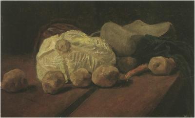Dipinto, olio, carta su pannello - L'Aia: Novembre - mese di ritardo a metà dicembre 1881