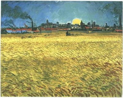 Dipinto, olio su tela - Arles: Giugno 1888