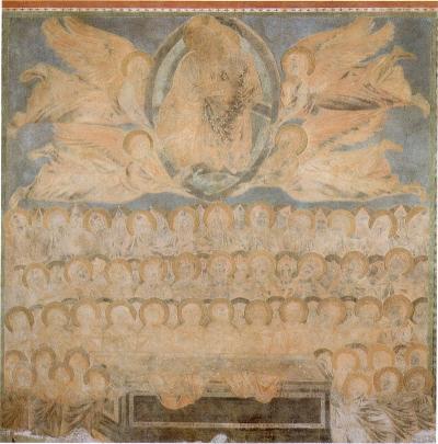 Assunzione della Vergine - affresco (circa 350x320 cm) di Cimabue e aiuti, databile attorno al 1277-1283 circa e conservato nell'abside della basilica superiore di San Francesco di Assisi.
