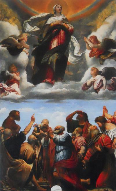 Assunzione della Vergine - dipinto a olio su tela (472x310 cm) del Moretto, databile al 1524-1526 e conservato nel Duomo vecchio di Brescia, come pala dell'altare maggiore.