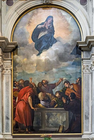 Assunzione della Vergine - dipinto a olio su tela (394x222 cm) di Tiziano, databile al 1535 e conservato nel duomo di Verona a Verona, dove decora una cappella laterale.