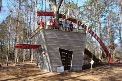 Casetta sull'albero nel Giardino Botanico di Huntsville - Alabama