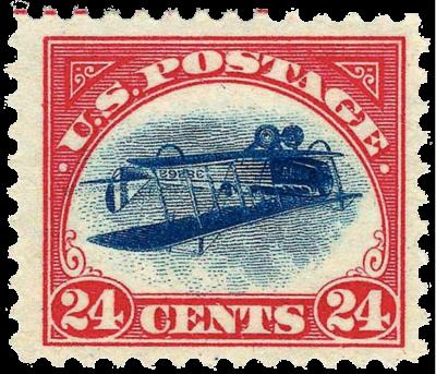 Un altro errore di stampa è ciò che ha fatto guadagnare quell'impressionante cartellino del prezzo al francobollo Inverted Jenny (Jenny Rovesciato). Adesso del valore di circa 750'000€, questo francobollo rappresenta un'immagine rovesciata dell'aereo Curtiss JN-4 ed è stato emesso negli Stati Uniti nel 1918. Solo 100 copie sono sopravvissute alla stampa, ecco perché il francobollo Inverted Jenny ha un valore così alto.