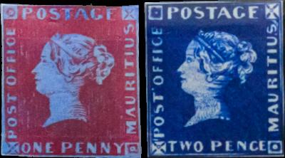Emessi nel 1847 in Mauritius durante la Colonia Britannica, questi francobolli erano modellati sui francobolli britannici con un'immagine della Regina Vittoria. Con solo 26 copie ancora esistenti ed essendo i primi francobolli del Commonwealth britannico ad essere prodotti al di fuori della Gran Bretagna, non c'è da meravigliarsi che i francobolli Mauritius abbiano un valore di oltre 1 milione di euro ciascuno.